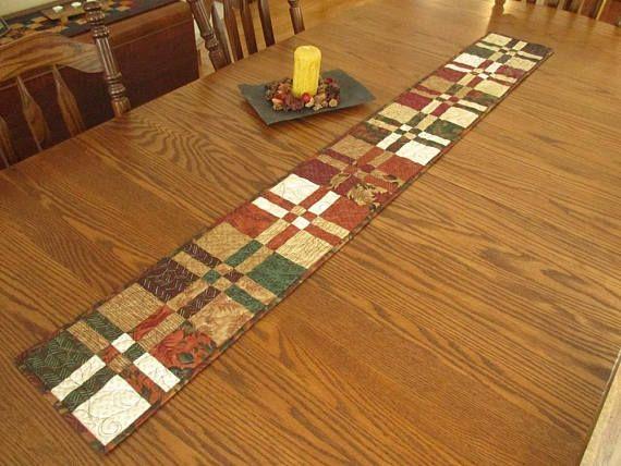 Long Skinny Table Runner Quilt Harvest Table Runner Rustic