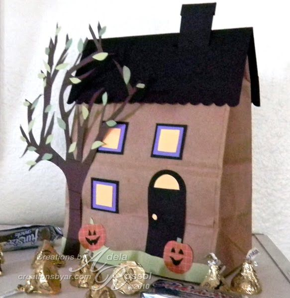 Preschool crafts for kids halloween paper bag haunted for Pinterest haunted house