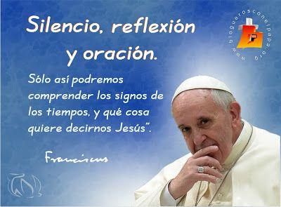 Tarjetas Y Oraciones Catolicas Silencio Papa