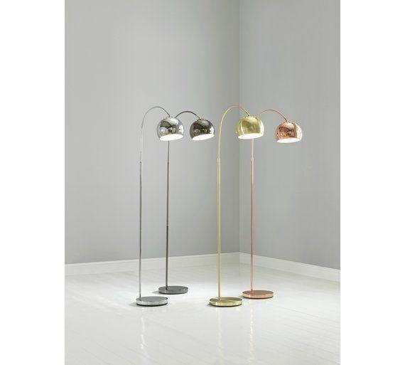 Argos Home Curva Floor Lamp Copper Lamps