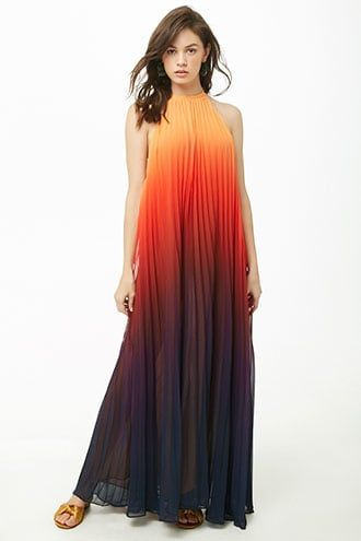 fe4853b078fa6 Ombre Pleated Maxi Dress | Products in 2019 | Dresses, Bridesmaid ...