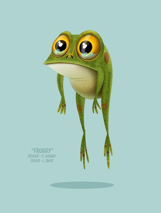 Рисунки лягушки смешные, фруктами день