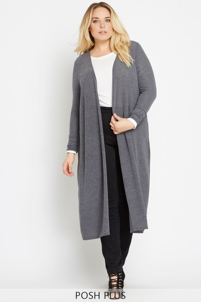 Day Ribbed Longline Cardigan Plus Size | An, Layering and Make...
