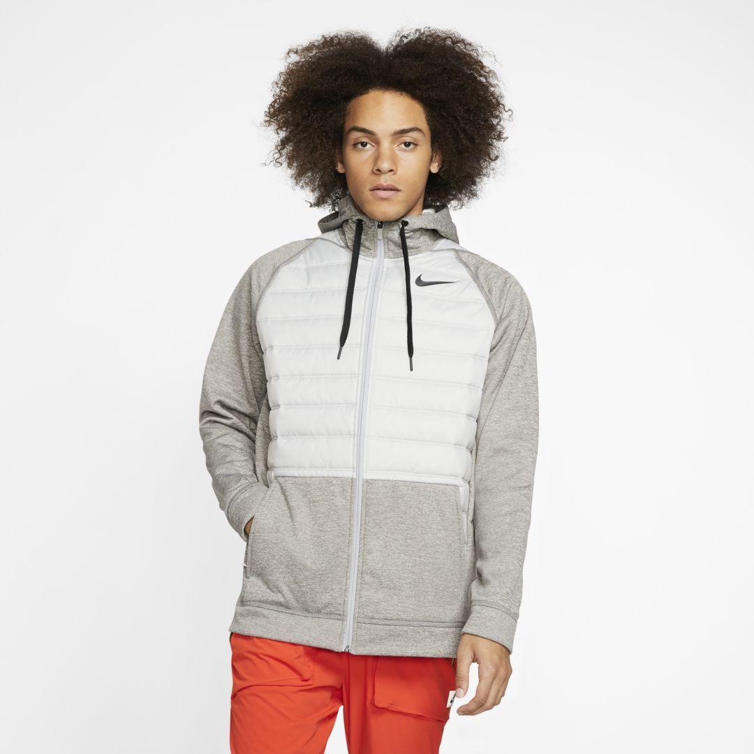 Photo of Nike Therma Men's Winterized Full-Zip Training Hoodie. Nike.com