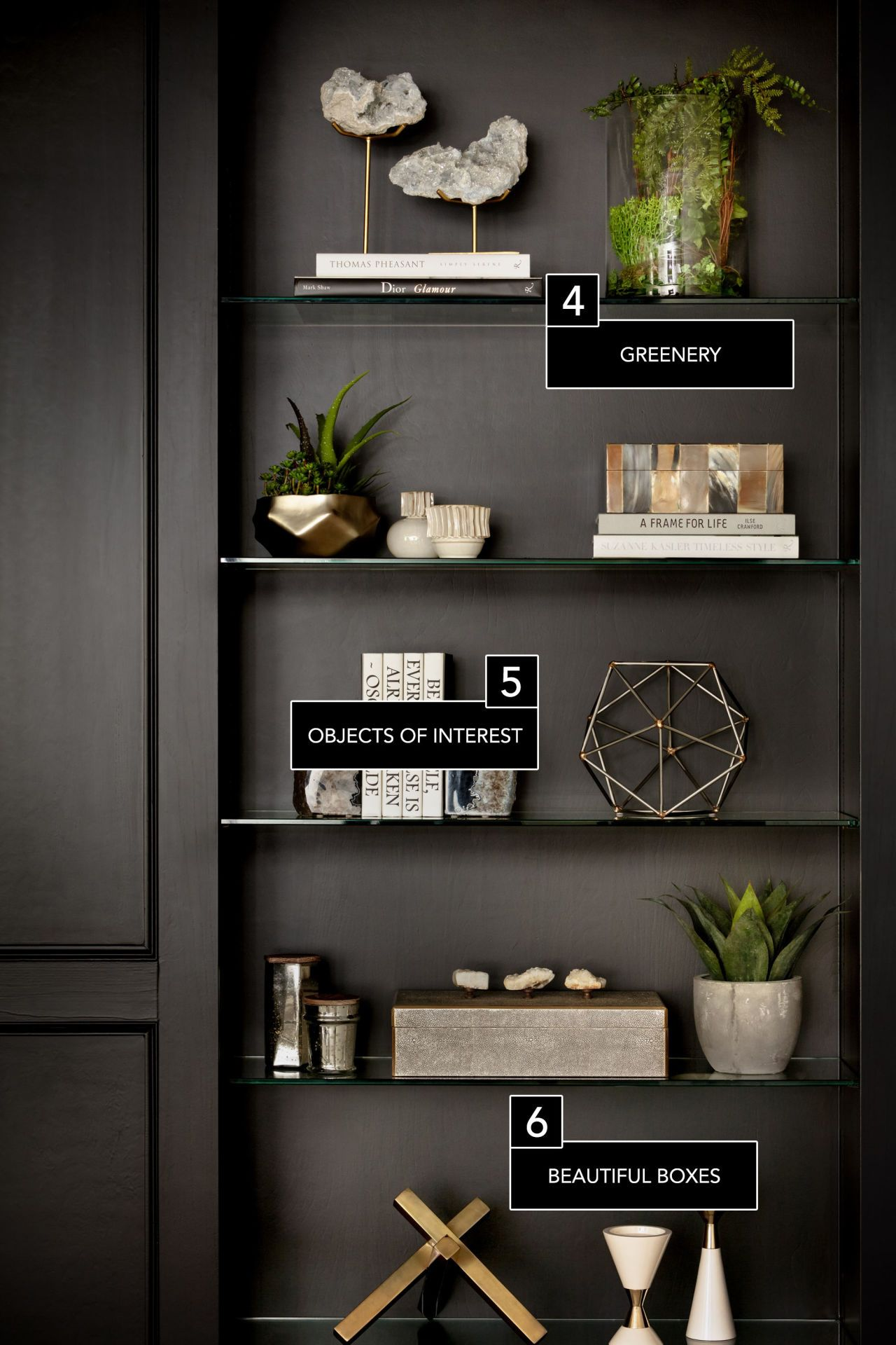 6 secrets to a perfectly styled bookcase wohnzimmer f r zu hause und d fte. Black Bedroom Furniture Sets. Home Design Ideas