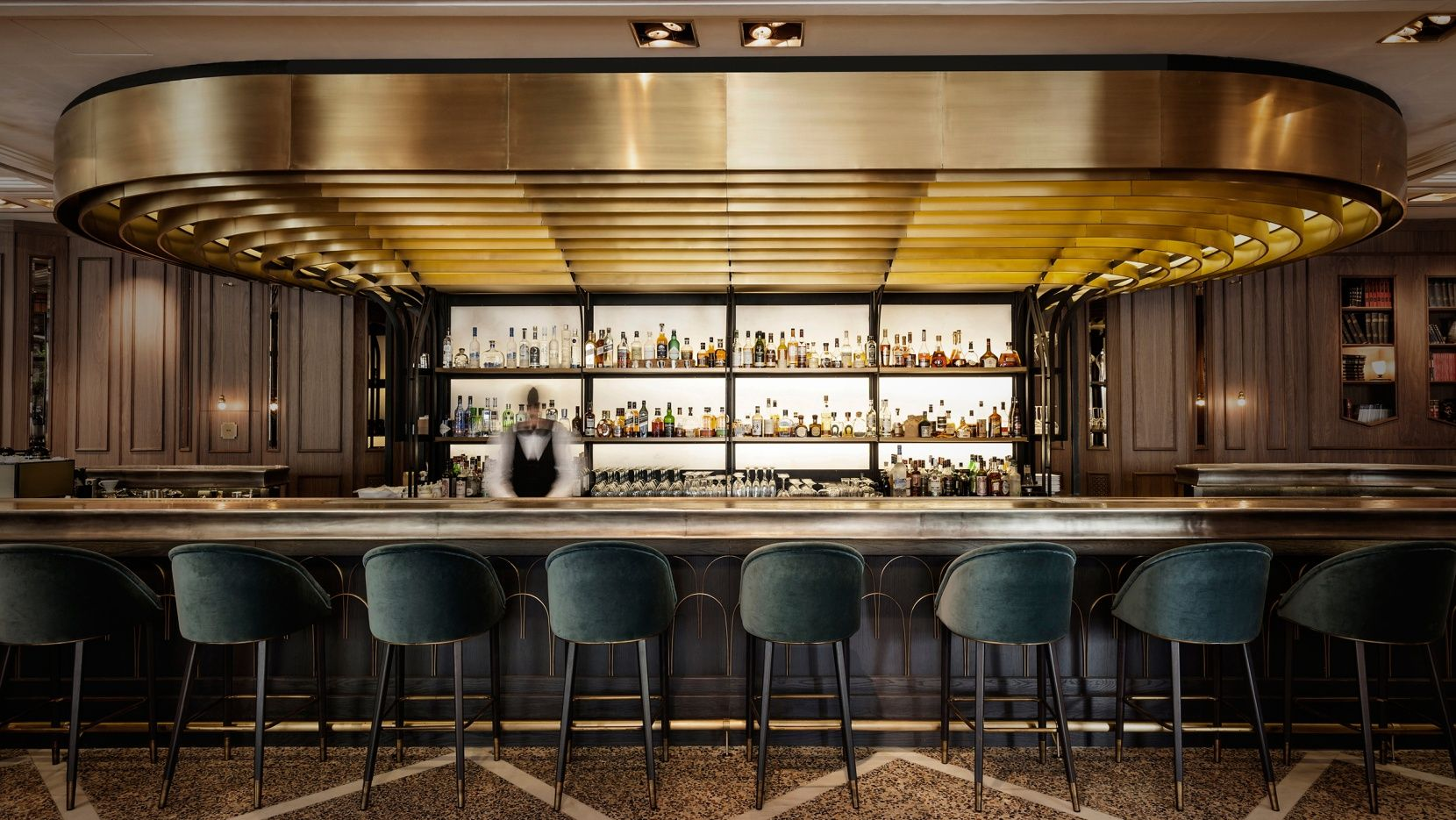 Zonars athens the revival of a legend jaw dropping interiors exteriors bar lighting bar - Bar cuisine studio ...