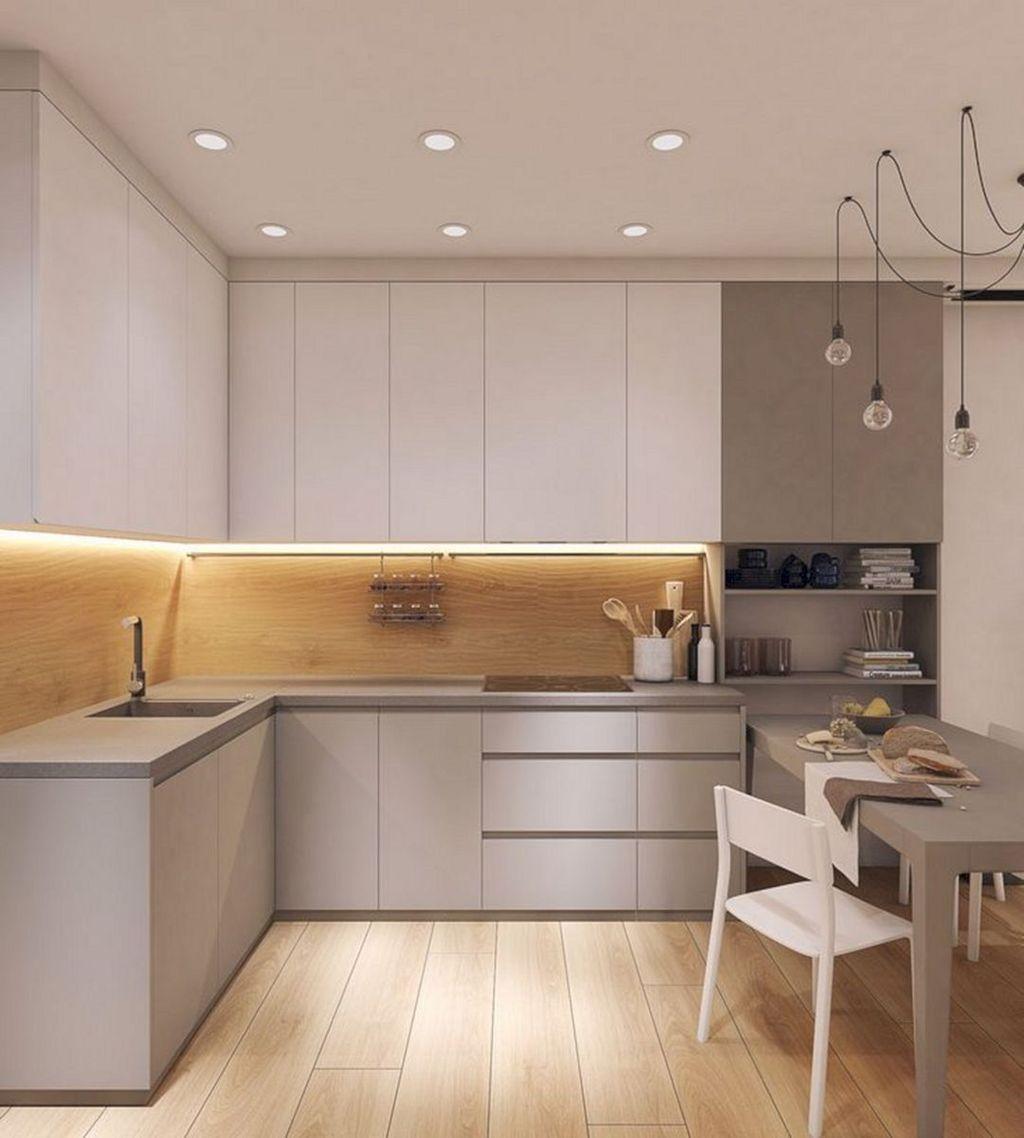 32 Popular Apartment Kitchen Design Ideas You Should Copy Pimphomee Simple Kitchen Design Small House Kitchen Design Modern Kitchen Interiors