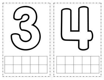 Number {1-10} Playdough Mats | 3 | Pinterest | Number, Maths and ...
