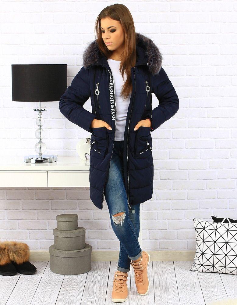 Kurtka Damska Zimowa Pikowana Z Kapturem Granatowa Ty0187 Sklep Online Dstreet Pl Jackets Fashion Vest
