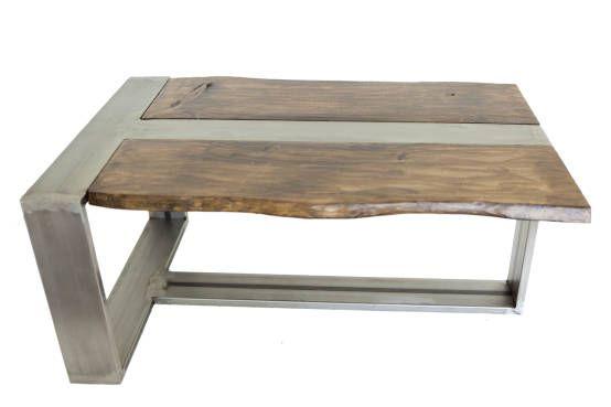 Mesa hierro crudo, madera envejecida. 90 x 60 x 40cm : Столы от ´Héctor Nevado