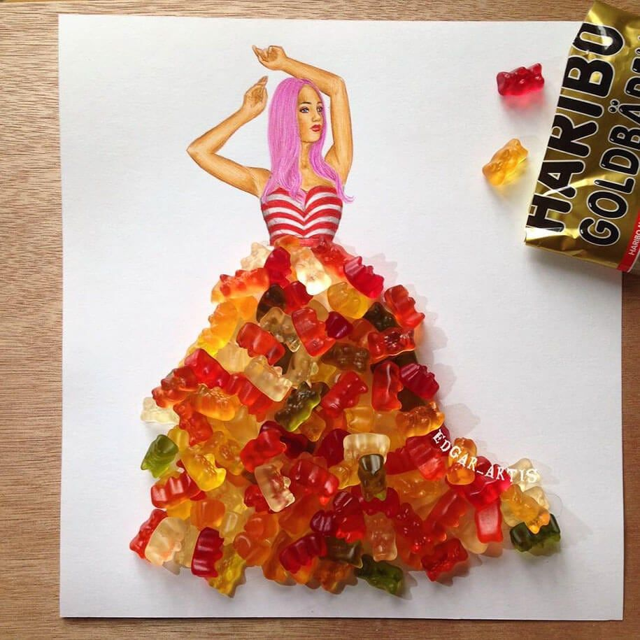 This Artist Creates Marvelous Dress Designs Using Everyday Objects Art Dress Fashion Design Drawings Everyday Objects