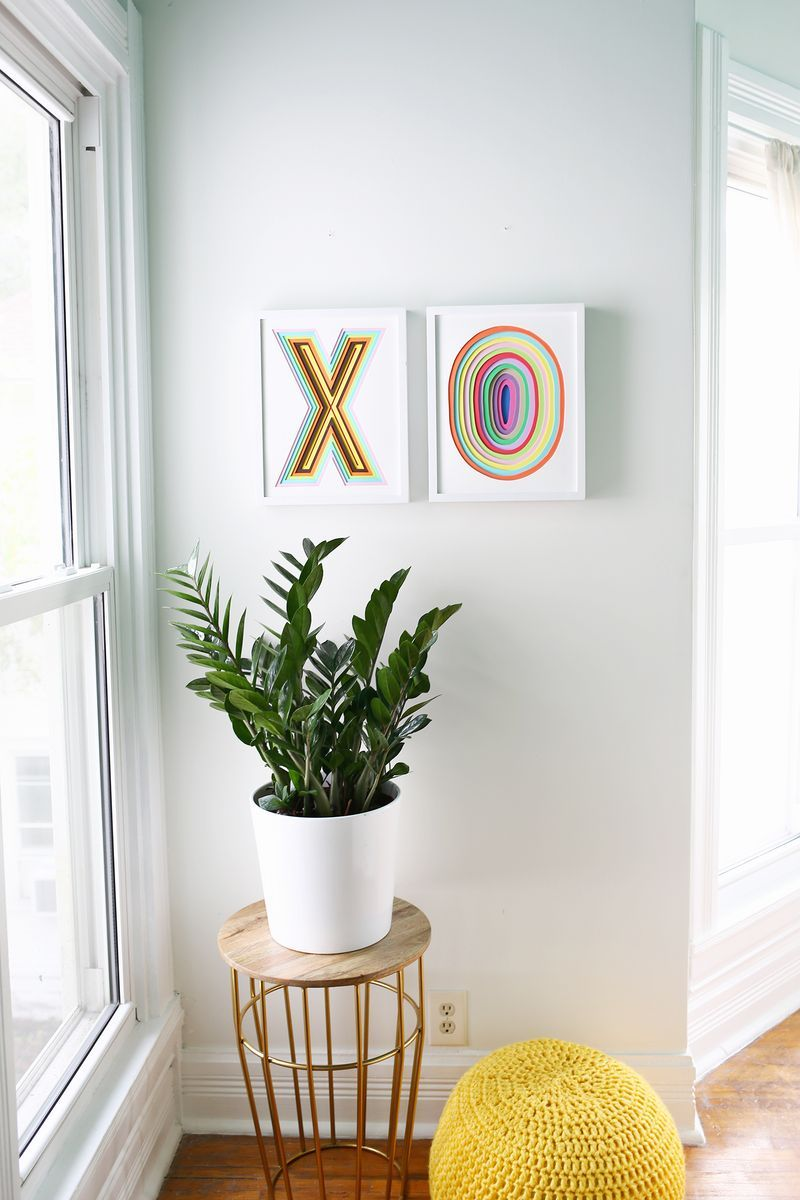 Create colorful wall art with foam u a beautiful mess