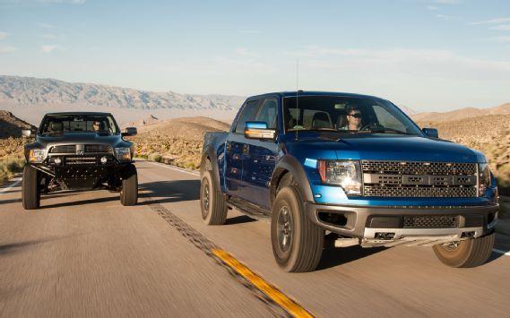 2012 Ford F 150 Svt Raptor Vs 2012 Ram 1500 Mopar Ram Runner Motor Trend Ford Raptor Ford Raptor Lifted Svt Raptor