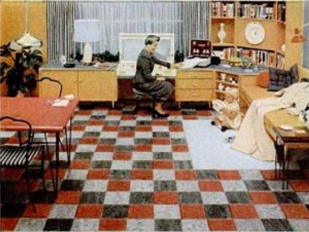 Congoleum Gold Seal linoleum flooring Life Magazine 14 Feb 1955
