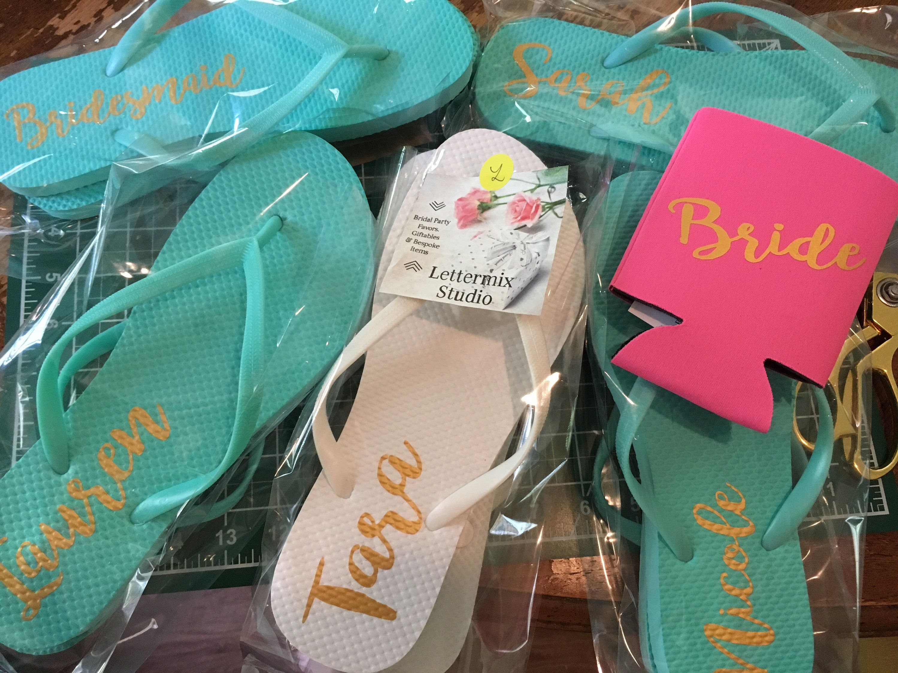 0c02a3b79 Mint Bridesmaid Flip flops