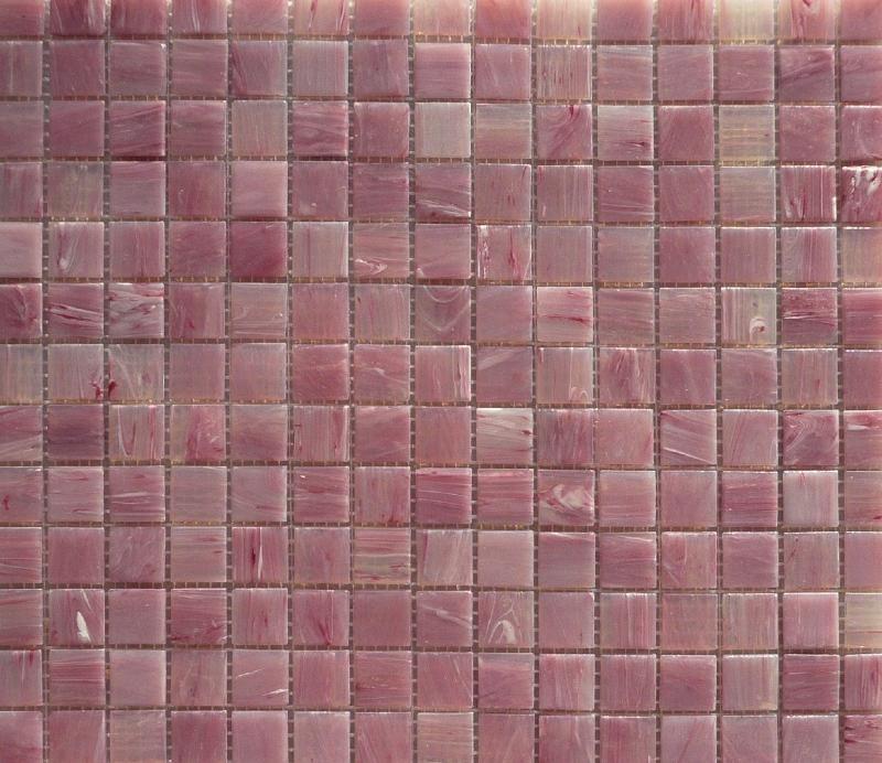 Mosaïque pâte de verre rose marbré clair opaque et translucide par - mosaique rose salle de bain