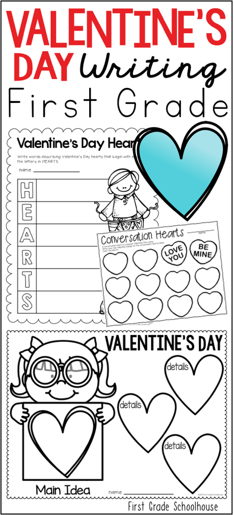 Valentine\'s Day Writing for First Grade | Activities, Students and ...