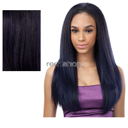 "Equal (SNG) Drawstring Full Cap Flatter Girl 24"" - Color OPDKPU - Synthetic (Curling Iron Safe) Drawstring Half Wig"