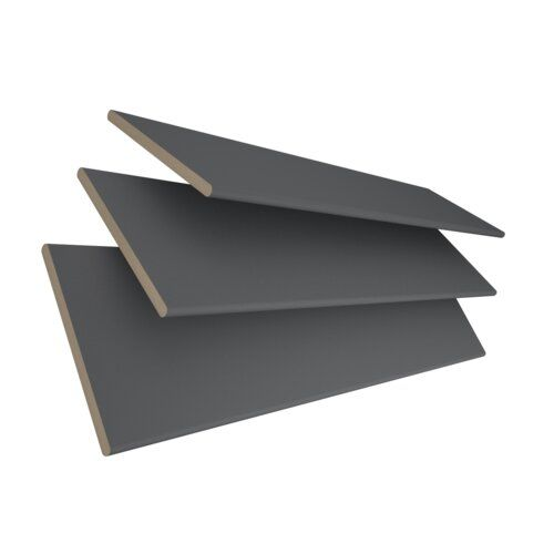Jalousie Transparent Ebern Designs Ausführung: Dunkelgrau, Größe: 120 cm L x 195 cm B