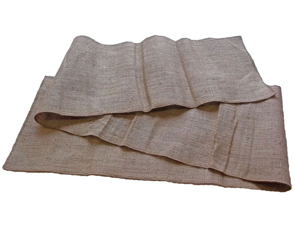 This Sixty Inch Long, 14 Inch Wide Hand Made Burlap Table Runner Is Perfect