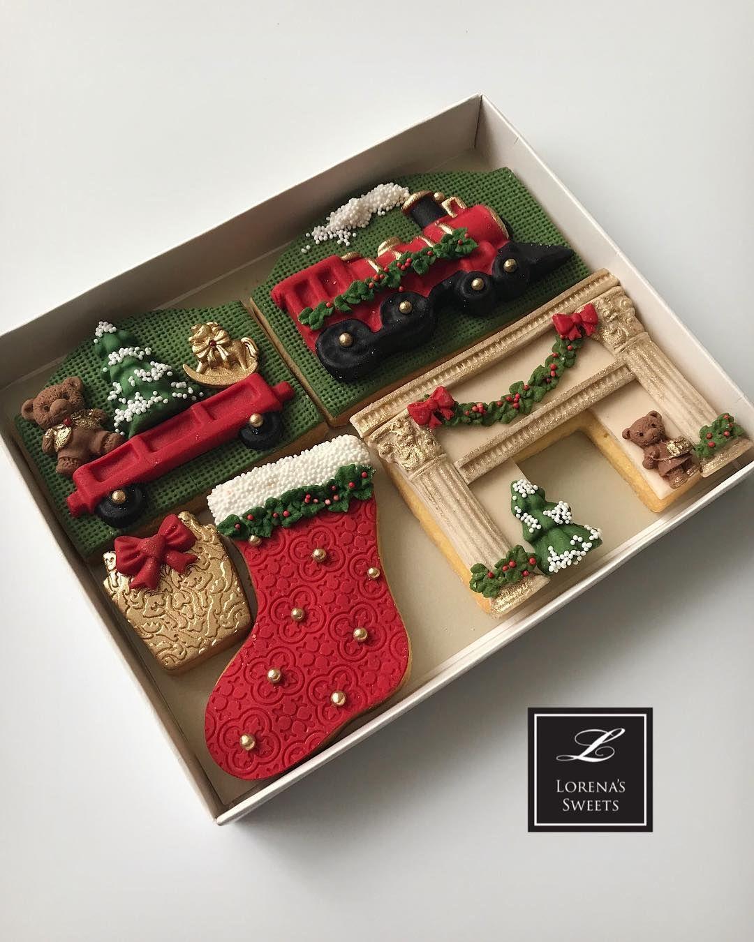 Lorenas Sweets Fondant Cookie Door//Christmas