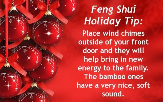 Feng Shui Holiday Tip Place Wind Chimes Outside Of Your Front Door