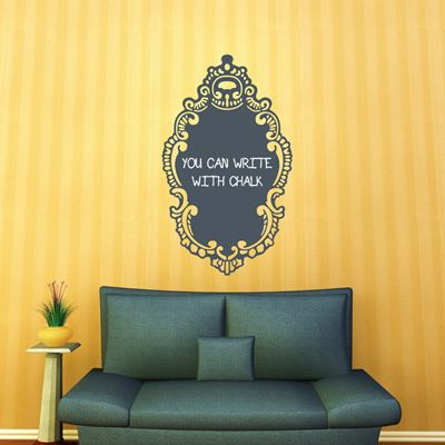 wall decals with a chalkboard finish this would be cute on a kitchen ...