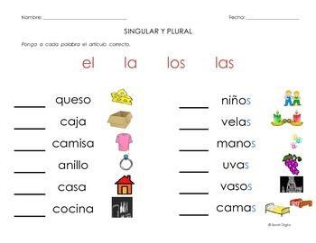 10 spanish singular and plural grammar worksheets leveled plurals worksheets vocabulary. Black Bedroom Furniture Sets. Home Design Ideas