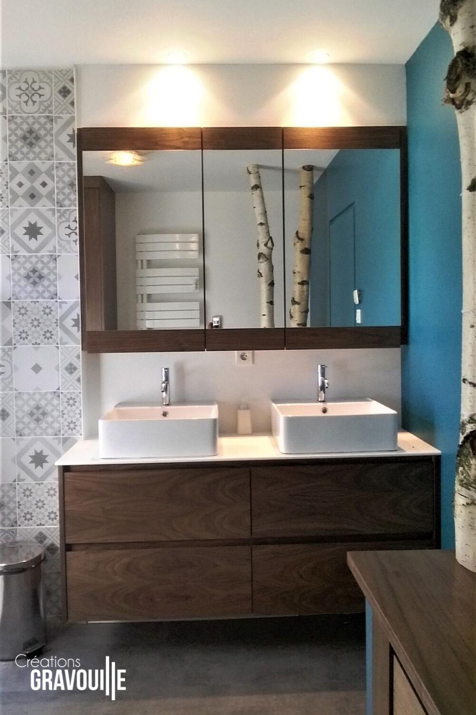 Creations Gravouille Salle De Bains Sur Mesure Dans Le 44 Meuble Pour Vasque A Poser Meuble Salle De Bain Meuble Vasque