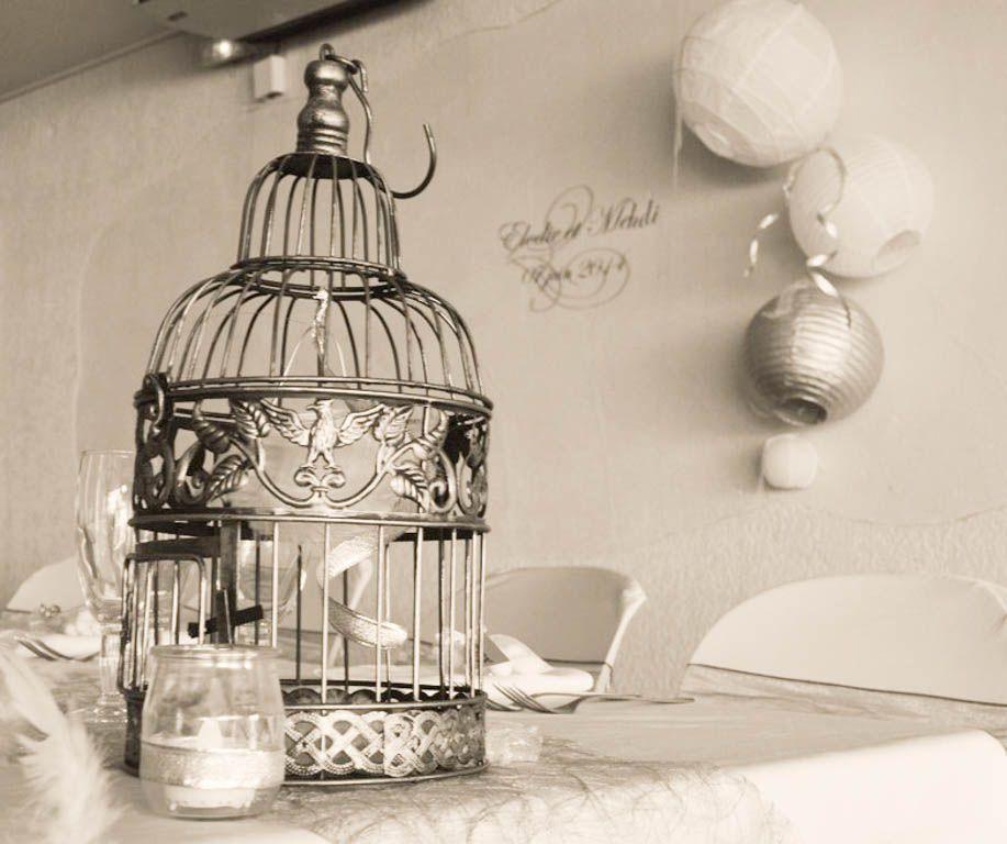 Décoration de mariage - Table d'honneur, cage, boules japonaises