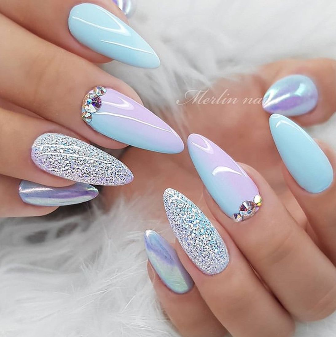 Over 50 Superb Wedding Nail Design Ideas – The Glossychic