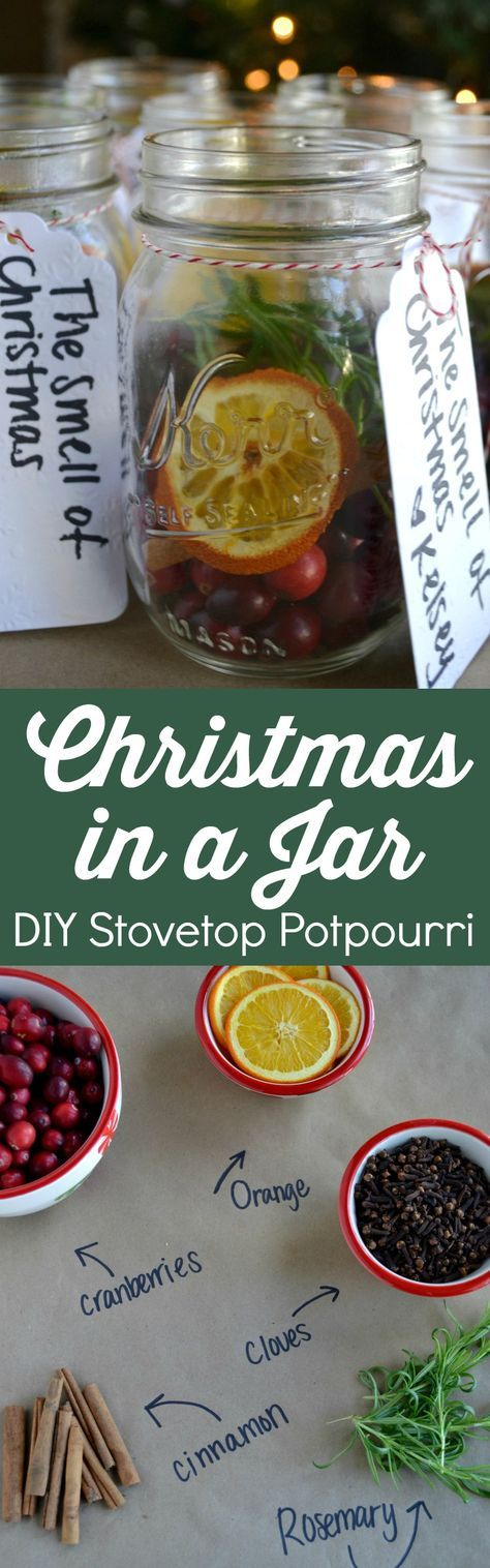 Christmas in a Jar – DIY Stovetop Potpourri - Blue Cheese Bungalow
