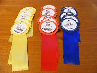 Enchanting Stamping: Homemade award ribbons