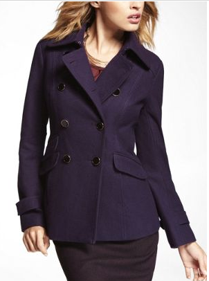 Express Coupons Wool Blend Peacoat Fashion Deals For Women