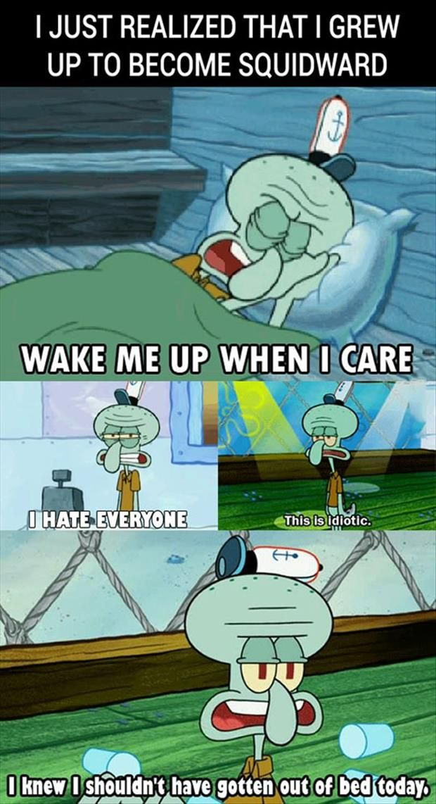Image result for i ended up as squidward
