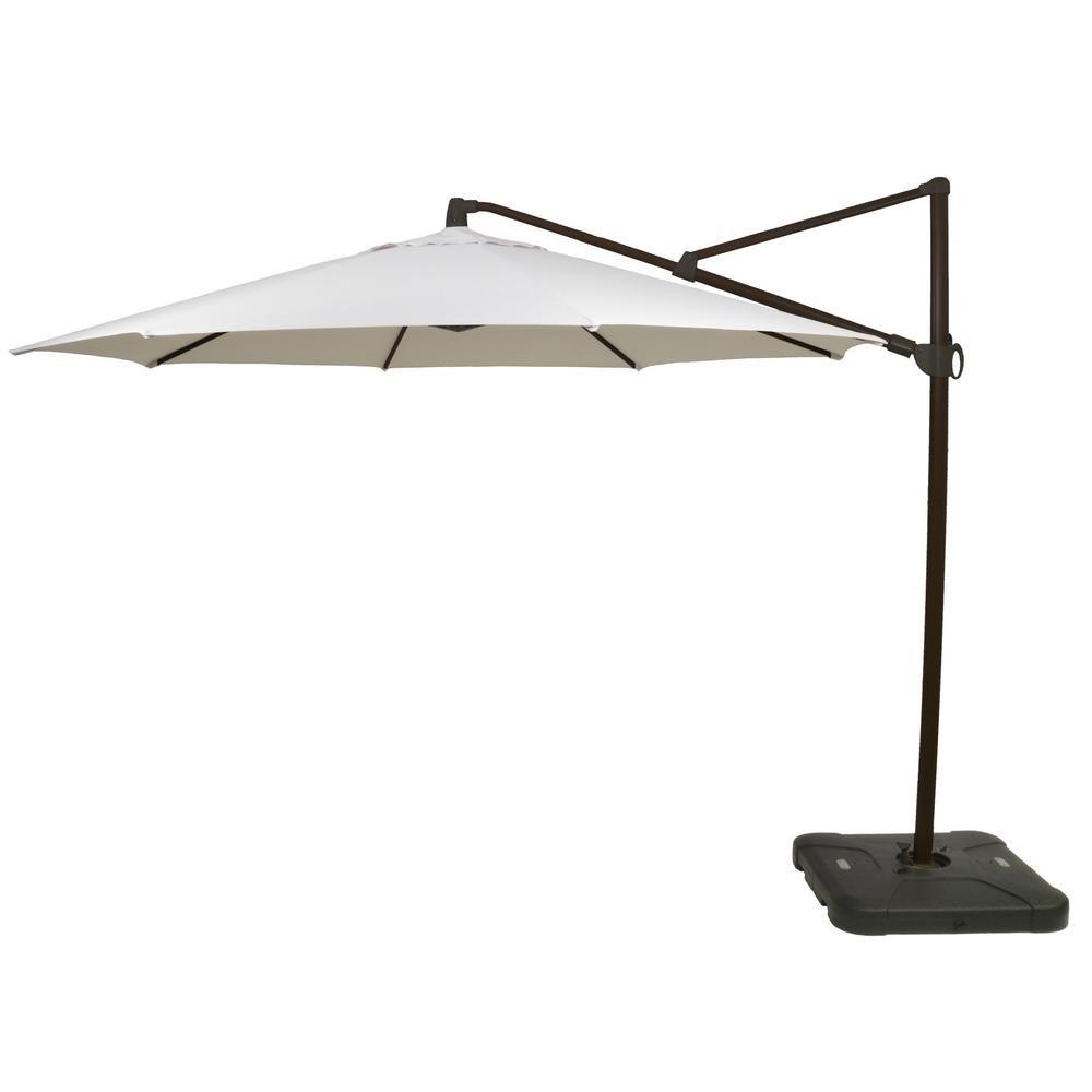 Hampton Bay 11 Ft Aluminum Cantilever Tilt Patio Umbrella In Off