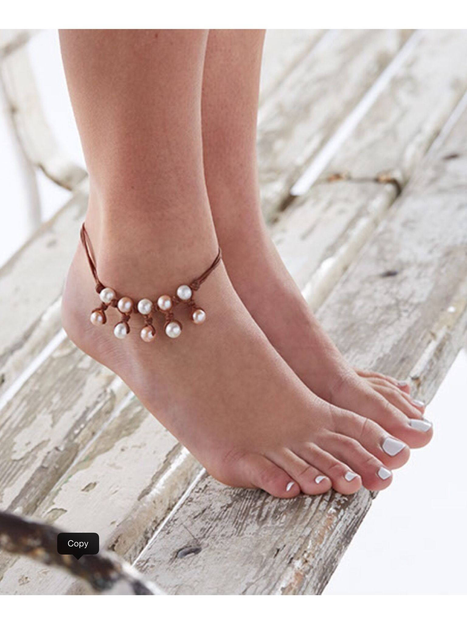 Pearls Soft Leather Bare Feet Summer Is On Its Way