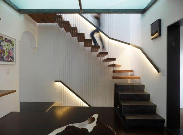 Treppenhaus modern holz  32 Schwebende Treppe Ideen fürs zeitgenössische Zuhause ...