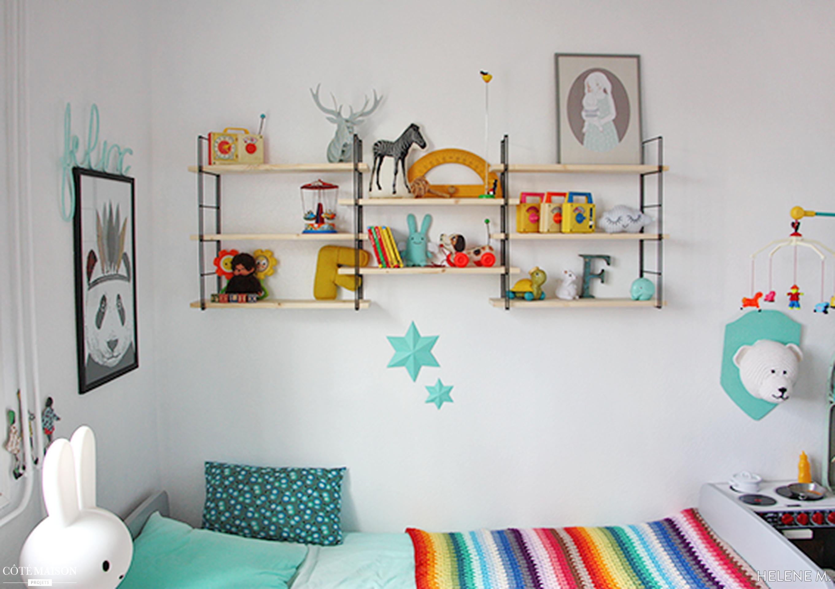 Une chambre d\'enfant à l\'ambiance vintage et colorée. | De la déco ...