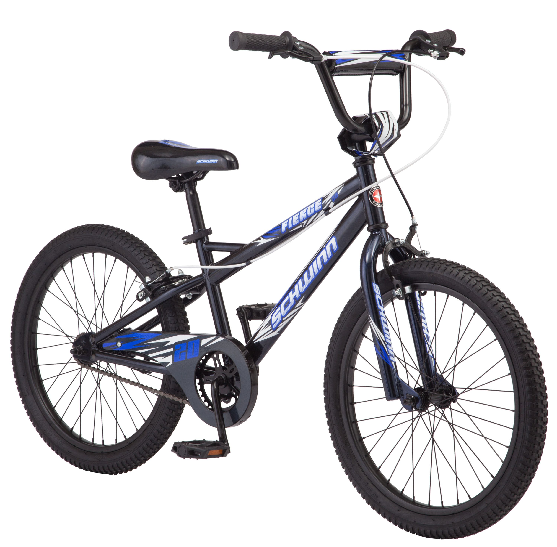 Schwinn Fierce Kids Bicycle 20 Inch Wheels Boys Frame Ages 6 And Up Blue Walmart Com In 2020 Kids Bicycle Boy Bike Schwinn