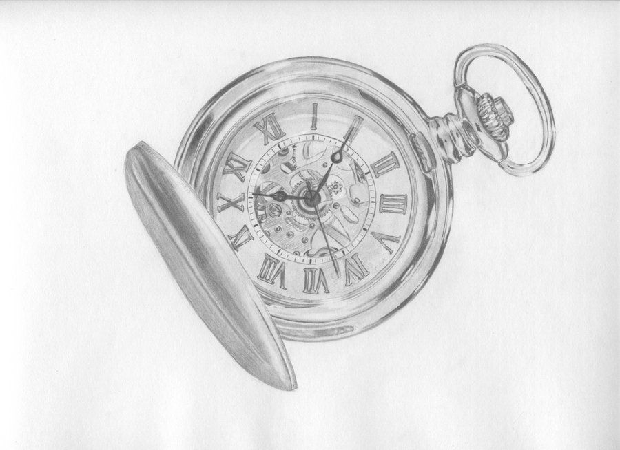 Pocket Watch Drawings: A Drawing Of A Pocket Watch , It Reminds Me Of A Great