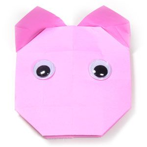 How to make an easy origami pig (http://www.origami-make.org/easy-origami-pig.php)