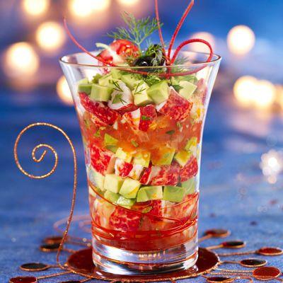 10 recettes de verrines pour no l verrine homard et avocat - Verrine pour noel ...