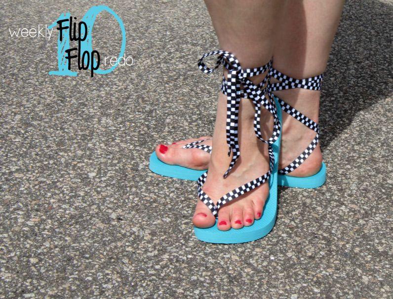 tie up flip flops