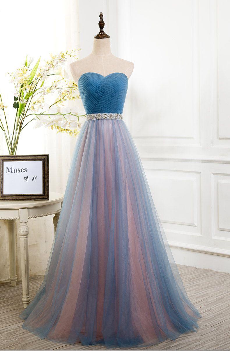 Gorgeous prom dresses simple vneck blush pink long chiffon slit
