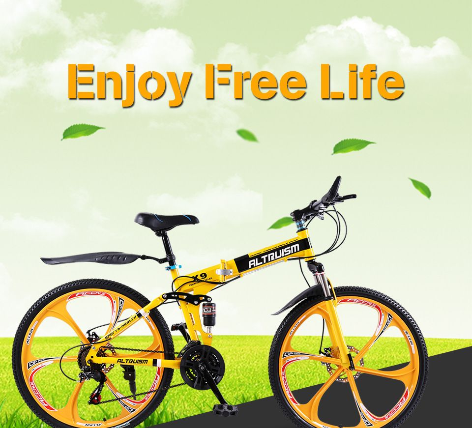 e4cbb7f14e5 Altruism X9 X9 Folding Bicycles for Mens Steel Road Bicycle Mountain Bike  21 speed 26 inch Downhill Bikes