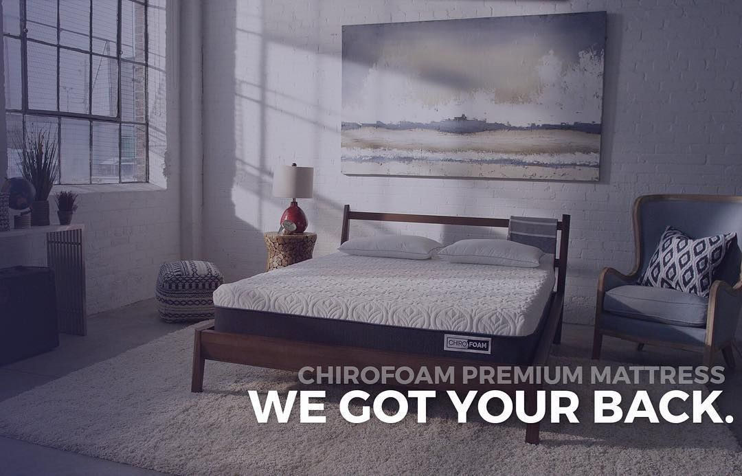 Introducing the Chirofoam Premium Mattress - recommended by Chiropractors to provide you increased comfort & support while you sleep. #WeGotYourBack
