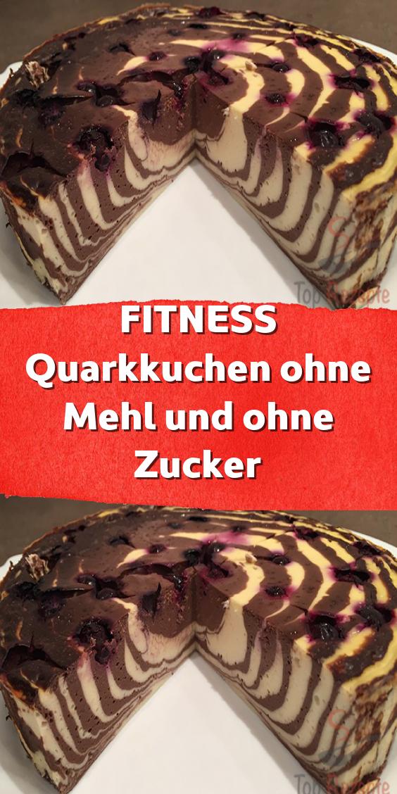 Super aussehender Quarkkuchen ohne Mehl und Zucker. Einfach Obst darauflegen und ein leckeres Desser...