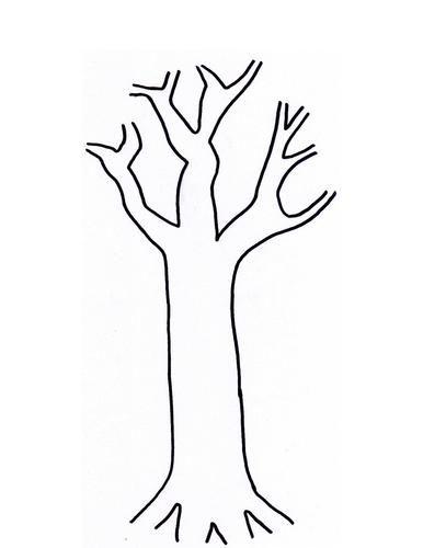 autumn fall tree leaves craft preschoolers free trunk template