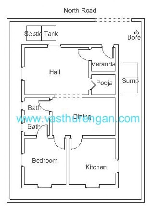 Vastu Plan For North Facing Plot 2 Jpg 500 678 North Facing House House Plans House Floor Plans